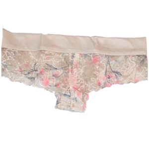 PINK Victoria's Secret Intimates & Sleepwear - ⚫️ VS PINK Floral Lace Low-rise Cheeky Panties SM